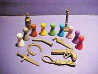 Vtg CLUE MASTER DETECTIVE - Replacement Weapons/Tokens, Pawns/Suspects - Choose