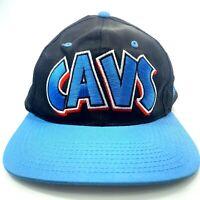 CAVS Cleveland Snapback Hat Baseball Black Blue NOS Vintage Official