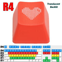 Red Heart Keycap ABS Translucent Backlit Mechanical Keyboard Keycaps for R4