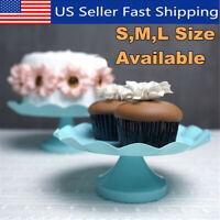 Round Cake Cupcake Stand Pedestal Dessert Display Holder Wedding Party   g US