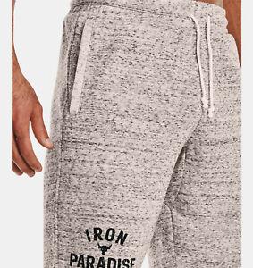 "2021 Under Armour Mens UA Project Rock Terry Iron Shorts Dwayne ""Rock"" Johnson"