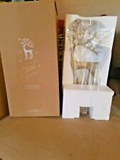 New Pottery Barn Large Reindeer Brass Stocking Holder Christmas NIB
