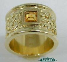 Amazing 14k Yellow Gold Citrine Designer Ring Size 8