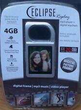 Eclipse Replay 4gb Digital Picture Frame Keychain / MP3 Player SILVER COLOR -NEW