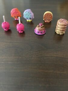 7 Shopkins Rare sweet honey, cream e cookie, 2 lola lollipops ,kooky cookie pair