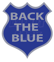 Support Police - Back the Blue Shield decal -  Made in USA