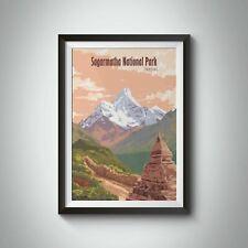 More details for mount everest sagarmatha national park nepal travel poster - bucket list prints