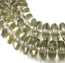 50 Czech Glass Rondelle Beads - Black Crystal 6x2mm