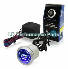 12v Blue Illuminated Universal Push Start Button Ignition Engine Starter Switch
