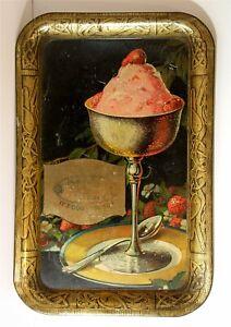 1920s FAIRMONT CREAMERY ICE CREAM TIN LITHO ADVERTISING SODA FOUNTAIN TRAY