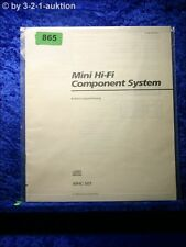 Sony Bedienungsanleitung MHC 501 Mini Hifi Component System (#0865)