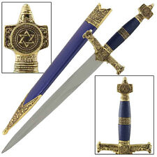 King Solomon Wisdom Medieval Crusader Temple Religous Blue Dagger Replica
