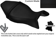BLACK STITCH CUSTOM FITS BUELL X1 LIGHTNING 1200 98-02 LEATHER DUAL SEAT COVER