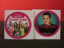 Set of Two Cougar Town Collectible New Get Glue Stickers NLA