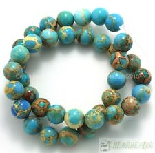 Natural Sea Sediment Jasper Gemstone Round Beads 16'' Strand 6mm 8mm 10mm 12mm