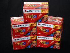 Agfa vista piccoli immagine film 200asa 36 fotografie 5 pezzi