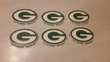 6 Vintage Green Bay Packers Fridge Type Magnets