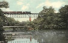 B & O Railroad Bridge and Train Brandywine Creek Wilmington De Old
