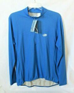 Men's XL Cycling Biking Jersey by PERFORMANCE Long Sleeve 1/2 Zip Blue NEW