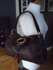 "RISK "" RI2K"" BROWN SOFT  LEATHER TOTE BAG GREAT CONDITION"