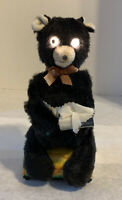 Vintage 1950s Linemar Marx Sneezing Bear Battery Operated Japan Eyes Light Up