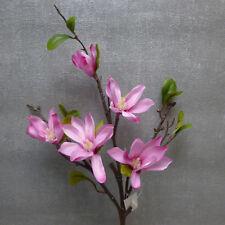 Formano Magnolie Zweig pink Textilfaser Kunstpflanze Frühling Sommer Ostern Deko