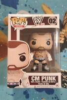 CM Punk Funko Pop Figure MOC WWE Pro Wrestling WWF AEW Straight Edge roh