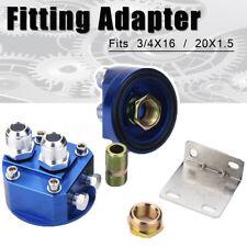 2x Oil Filter Relocation Kit+Universal Cooler Sandwich Plate AN10 3/4X16 20X1.5