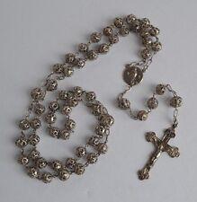 Antique Irish silver spoon filigree Catholic Rosary cloves design on crucifix