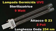 Lampada Germicida Sterilizzatrice UV-UVC 9 Watt PL-S G23 ultravioletti