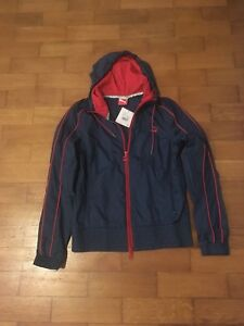 Brand New (With Tags) Puma Windbreaker Navy/Red Size UK 10