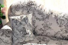 Petit canapé de style pour enfant en toile de Jouy noir et écru