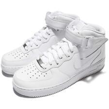 Nike Air Force 1 Mediados de 07 AF1 Triple Blanco Zapatos tenis informales de hombre 315123-111
