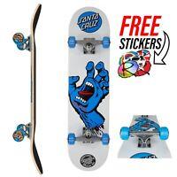 Santa Cruz Complete Skateboard Screaming Hand - White/Blue