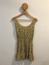 Lulu and Rose Yellow Summer Dress With Blue Paisley Print Glue Store