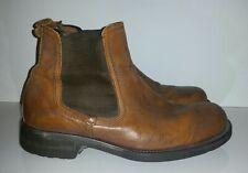 Aldo Men's Italian Brown Leather Boots Size 10