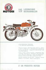 Motobi Pesaro Volantino (Sheet) Leoncino Scrambler 125 cc. Ciclomotore anni 60