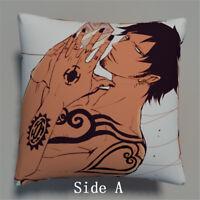 One piece Trafalgar Law Anime Manga two sides Pillow Cushion Case  573