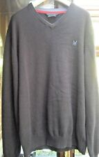CREW CLOTHING COMPANY MENS NAVY BLUE JUMPER IN GOOD CONDITION - SIZE LARGE