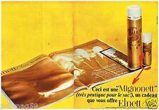 F- Publicité Advertising 1968  (2 pages) La Laque Elnett Satin de L'Oréal