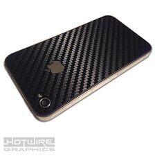 APPLE iPhone 4 & 4S Rear Carbon Style Skin - PROTECTIVE Vinyl Adhesive Cover