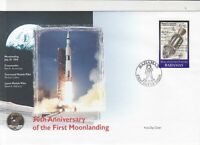 bahamas 30th anniversary moon landing stamps cover 1999 ref 19475