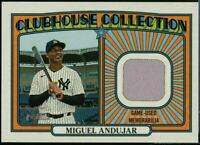 2021 Topps Heritage Clubhouse Collection Relic Miguel Andujar New York Yankees