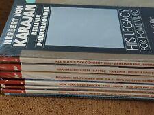 Herbert Von Karajan Laserdisc Lot of 8 (Four Sealed)