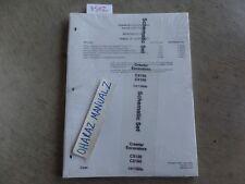 CASE CX130 CX160 Crawler Excavator Schematic Set Manual   Copyright 2000