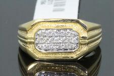 10K YELLOW GOLD .28 CARAT MENS REAL DIAMOND ENGAGEMENT WEDDING PINKY RING BAND
