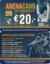 Arenakaart A081-01 20 euro: Amsterdam Admirals 2007