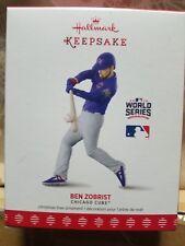 2017 Hallmark Ornament World Series 2016 Ben Zobrist Chicago Cubs MLB