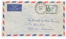 BH91 1958 British KUT TANGANYIKA AIR *Peramiho* SKELETON Cover Dar RARE Medical