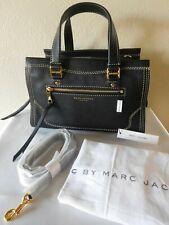 Marc Jacobs Cruiser Black Pebbled Leather Satchel Crossbody Handbag